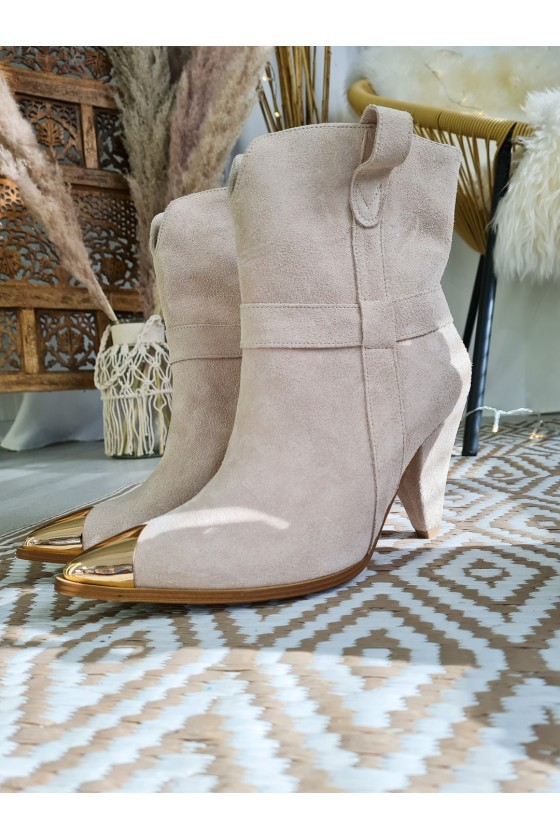Largo boots suede beige PRODUCT TO ORDER